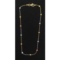 "LA BR-261 10""  Tricolor Diamond Cut Bead"