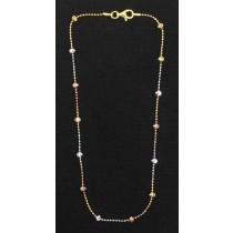 "LA BR-261 11""  Tricolor Diamond Cut Bead"