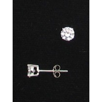 LA ER-056 CZ  5mm Round CZ Earrings