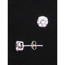 LA ER-057 CZ  6mm Round CZ Earrings