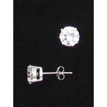 LA ER-058 CZ  7mm Round CZ Earrings
