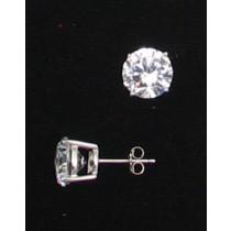LA ER-060 CZ  9mm Round CZ Earrings