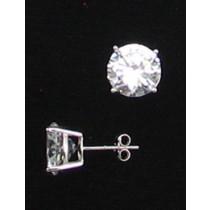 LA ER-061 CZ  10mm Round CZ Earrings