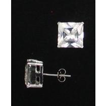 LA ER-068 CZ  10mm Square CZ Earrings