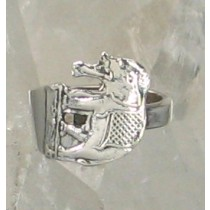 "SPR-4672  ""Elephant"" Spoon Ring"